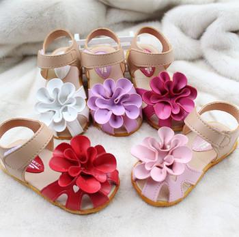 2015 лето богемия принцесса сандалии для девочек цветок детские sandalias детская одежда обувь детские тапочки первые ходунки