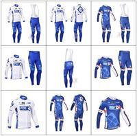 2014 Tour De France  FDJ Winter Thermal Fleece Cycling Jersey Long Sleeve And Cycling (Bib) Pants Windproof ZR014