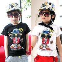 2014 summer children's clothing cola bottle child baby 100% cotton boys  girls child short-sleeve T-shirt