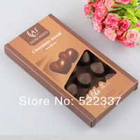 Free shipping-Guaranteed 100%  Food grade Gift box 15 hole silicone chocolate Tool mould,Ice cube tray Wholesale SC-07
