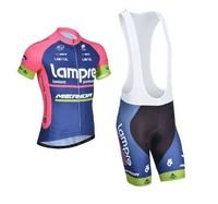 2014 Tour De France Lampre Cycling Jersey Short Sleeve bib Shorts MERIDA ropa ciclismo clothing bike maillot cycling jerseys