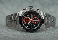 Mens Sportura Quartz Watch SNAD23P1 Alarm Chronograph Black Honda F1 Tachymeter Watches
