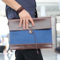 bag men envelope day clutch document vintage briefcase BYB bags