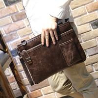 men's leather handbags bag Crazy horse leather Vintage day clutch