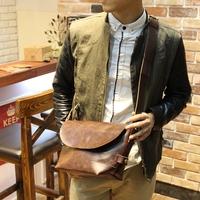 men's leather handbags   bag Crazy horse leather   men's  vintage  shoulder  men messenger bags       handbag