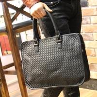 new 2014 genuine leather bag woven handbag  men messenger bags shoulder  BYB