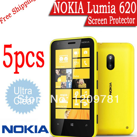 5Pcs Lot Clear Skin LCD Screen Protector for Lumia 620 Nokia Protective Cover Film Brand Cell