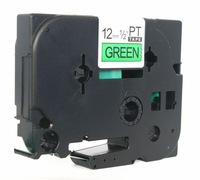 Shenzhen China made TZ2-741 black on green 18mm labels 100% compatible tz label tapes