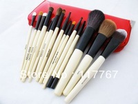 15pcs Fashion Professional Makeup Brushes Set Cosmetic Kits + Extra Pouch  Red Bag ay600203