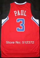 Free Shipping to all country! #3 Chris Paul  new material Jersey, Embroidered Logo ( all name number stitched!!)