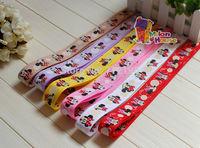 "50 Yards Wholesale 5/8"" 16mm Minnie & Bubble Printed Grosgrain Ribbon Hair Bow Craft Scrapbook"