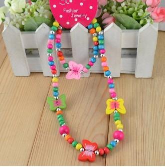 W transporte crianças jóias melhores produtos do bebê jóias crianças atacado / criança conjunto artesanal colar de borboleta G0134(China (Mainland))