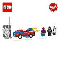 Free Shipping NEW Original educational brand lego Blocks toys10665 juniors series Spider-Car Pursuit 55PCS for children Gift