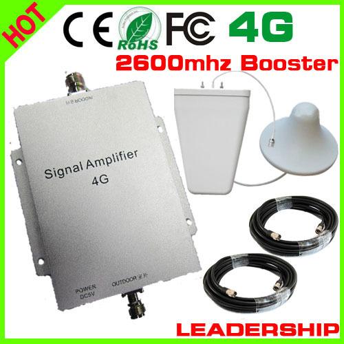 1 set ultimo 65db ripetitore di segnale mobile di richiamo ripetitore 4g 4g 2600 amplificatore mhz cellulare amplifier+antenna+cablefree spedizione