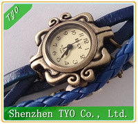 Hot-sale High Quality Women Genuine Leather Vintage Watches,Angel Heart Pendant Bracelet Watches Butterfly