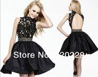 Free Shipping!! 2014 Elegant A-Line off-shoulder evening dress custom made