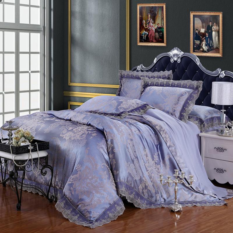 Grátis frete venda quente 100% algodão & viscose conjunto de cama king cama queen size capa de edredon luxo / quilt cobertura define europeu(China (Mainland))
