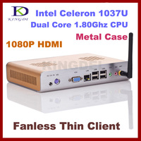 Metal case 4GB&500GB thin client, Mini pc, desktop computer, Dual core Intel Celeron 1037U 1.8Ghz,HDMI, WIFI,Windows 7,3D Game