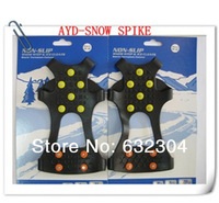 Freeshipping S/M/L/XL Size Anti Slip Ice And Snow Shoe Gripper Protector Anti Slip Spikes Cleats Grippers Crampons