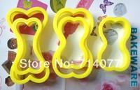 Freeshipping 5PCS/SET Food Grade Plastic Bone Shape Cake Decorating Bakeware Tools 020137