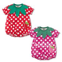 Retail Japanese style children's clothing baby girls fruit romper short-sleeve romper jumpsuit slim hip clothing 6936006