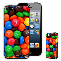 M&M'S Chocolate Hard Plastic Case for iPhone 5G 5S Back Cover Case Retro Sweets Candy Quirky Pop Vintage M&M Capa Celular