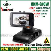 "2014 NEW Car DVR Video Recorder CKM-G10W Novatek 96650 Full hd 1080P 2.7""LCD+Night Vision+G-Sensor+H.264 Video Recorder Dash Cam"