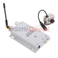 Micro CCTV Security Surveillance /Mini Pinhole Wireless CCTV Camera A/V Audio 6 IR LED RC Camera Receiver Kit