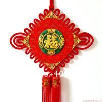 Chinese knot jade Large plate golden quality festive decoration festive decoration