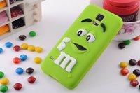 2014 New Arrivals cute Rainbow bean MM bean Case Cover For Samsung galaxy  S5 i9600 Free Shipping mini order 1pcs