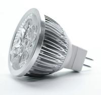 Free Shipping 4 pieces/Lot Aluminum Body MR16 4W LED Bulb AC/DC12V 45 Degree Beam Angle 40W Halogen Light Equivalent