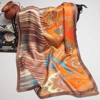 105072 170x52cm 2014 Newest Women's Heavy Crepe Satin Scarf, 100% Silk scarves, rectangle silk scarf, Free Shipping Muslim Hijab