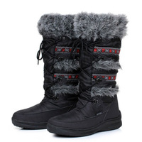 New 2014 Snow Boots Women Soft Leather Boots Euro 36-42 Plus Size Winter Boots Plush Inside Waterproof Warm Shoes High Quality