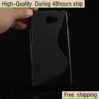 High Quality Soft TPU Gel S line Skin Cover Case For Sony Xperia M2 S50h Free Shipping UPS DHL EMS HKPAM CPAM FDS-4