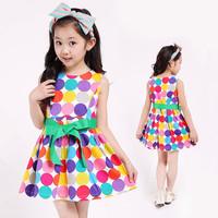New 2014 Spring/Summer children's clothing girls casual princess dresses Cute  frozen kids dresses for children