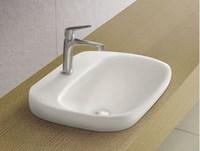 Mini embedded counter basin rectangle ceramic wash basin