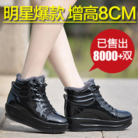 2014 New women's elevator shoes platform swing shoes cotton-padded shoes sports casual shoes wedges single shoes boots platform