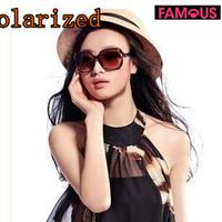 New 3508 polarized sunglasses retro bamboo big box ladies sunglasses driving designer brand polarized sunglasses for women