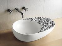 Ceramic art basin counter basin wash basin fashion black-and-white washbasin