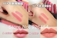 2pcs/lot New Arrival Waterproof Elegant Daily Color Lipstick matte smooth lip stick lipgloss Long Lasting Sweet girl Lip Makeup