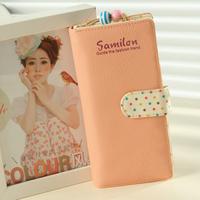 Bags 2014 polka dot multi card holder design gentlewomen long wallet vintage purse