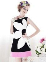 Brand New Fahion 2014 A-type Flower Women Summer Dress Desigual Party Printing Dresses Vestidos
