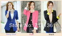 2014 spring new female small suit jacket and long sections Slim Suit jackets women down jacket coat