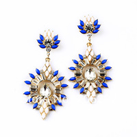 2014 New Fashion Vintage Luxury Exaggerated Statement Crystal Stud Earrings For Women Jewelry  Free Shipping