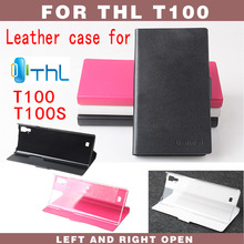 10pcs 2014 New High Quality Genuine Filp Leather Cover Case THL T100 T100s octa core mtk6592 SKIN Protective shell
