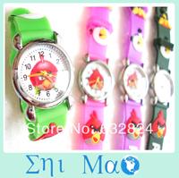 Cartoon bird Students Child Girls Kids Wrist Watch 10 Colors Analog fashion watches wristwatch Free Shipping & Drop shop