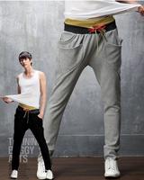 2014 Limited Rushed Double Color Block Decoration Sports Trousers Basketball Pants Harem Multi-pocket 1216-k46-35 Men's Leisure