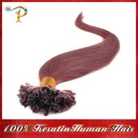 "18"" 20"" 22"" 24""Keratin Nail Stick Nail Tip Virgin Remy Human Hair Extensions 0.5g/1.2g/s 100s/pack Color #33 Free shipping"