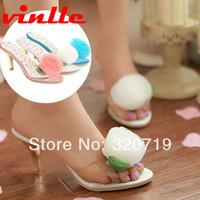 VINLLE 2014 fashion Summer high-heeled shoes open toe sandals dress shoes for women pumps high heels size 34-39