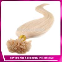 "18"" 20"" 22"" 24""Keratin Nail Stick Nail Tip Virgin Remy Human Hair Extensions 0.5g/1.2g/s 100s/pack Color #613 Free shipping"